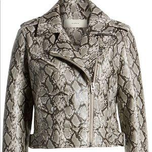 BLANKNYC Faux Leather Snakeskin Moto Jacket New!